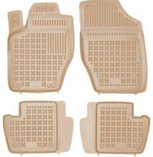 Citroen C4 II 2011-2017-ig bézs, beige színű méretpontos gumiszőnyeg szett 201218B