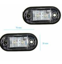 Szélességjelző, helyzetjelző lámpa LED fehér színű, 1 db-os csomagolás, LA-603W