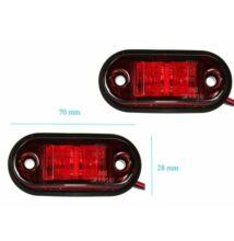 Szélességjelző, helyzetjelző lámpa   24V  LED piros színű, 1 db-os csomagolás, LA-603R
