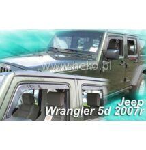 Jeep Wrangler (JK alvázkód) 5 ajtós első+hátsó légterelő/szélterelő 2007-től, 4 db-os készlet  19115