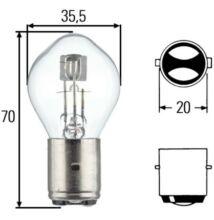 12V 35/35W fényszóró izzó Hella 8GD002084-131 BA20d