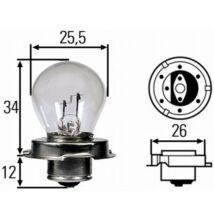 12V 15W fényszóró izzó Hella 8GA008899-121 P26s