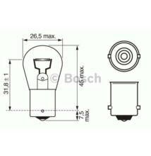 6V 21W cseresznye izzó Bosch 6V 21W BA15s 1987302607