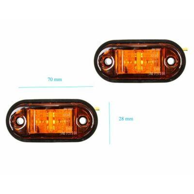 Szélességjelző, helyzetjelző lámpa LED sárga színű, 1 db-os csomagolás, LA-603Y