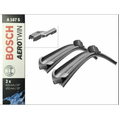 Fiat Bravo [198], 2007.03-től első ablaktörlő lapát készlet, méretpontos, gyári csatlakozós, Bosch 3397007187 A187S