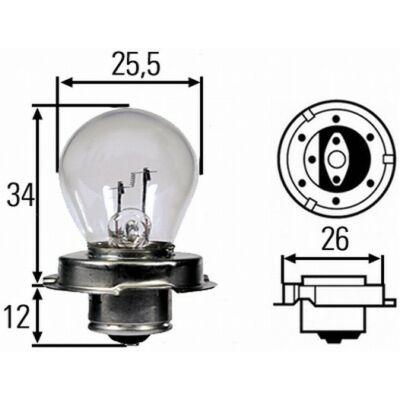 12V 15W fényszóró izzó P26s