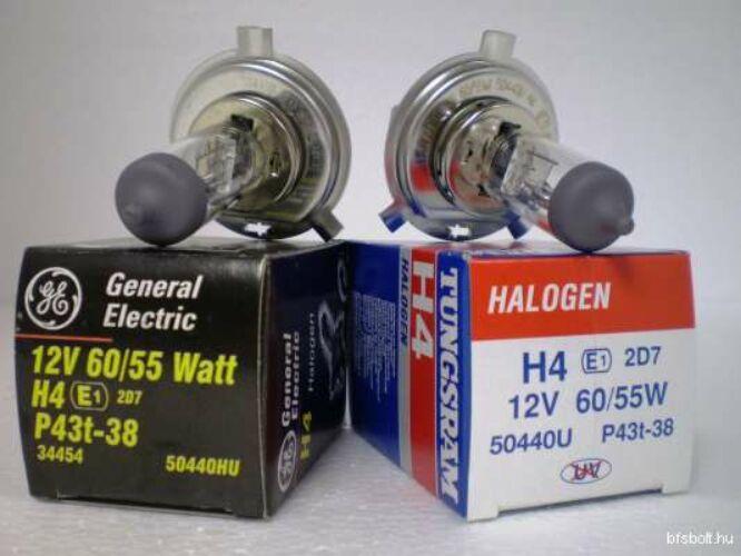 H4 izzó GE/Tungsram H4 izzó 12V 60/55W 50440 P43t